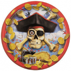 8 Pirate Bounty Paper Party Plates